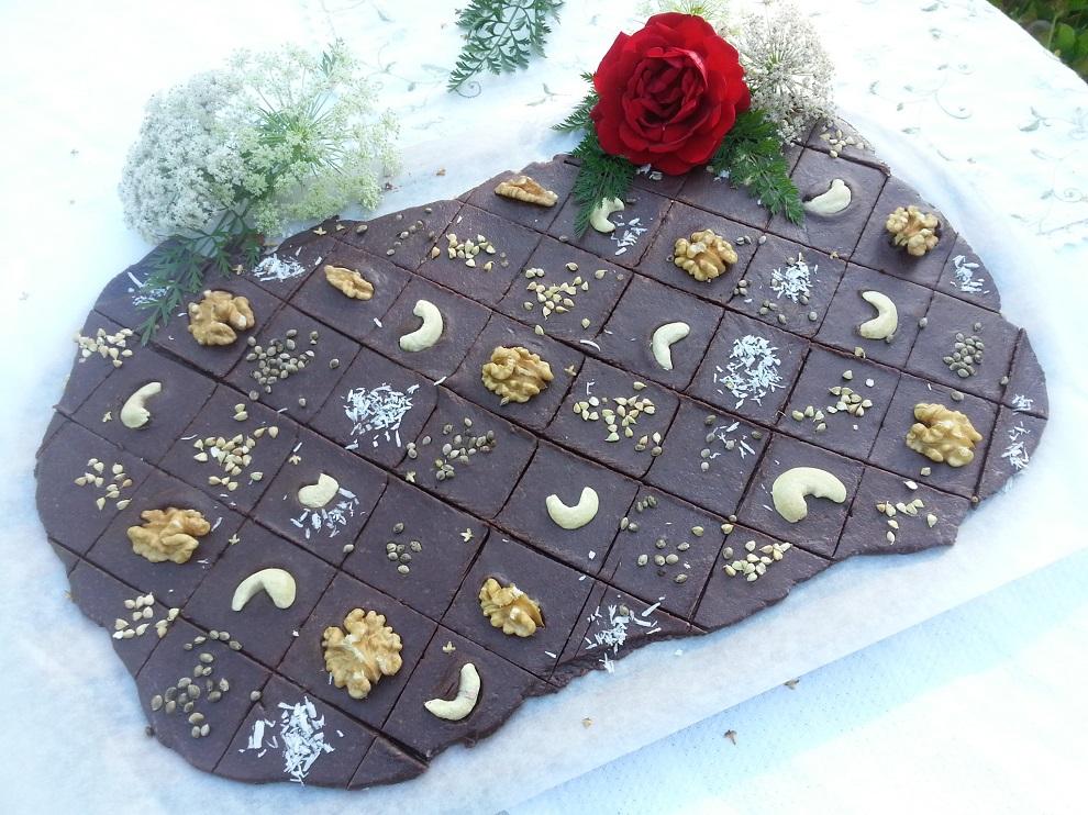 Rohkostschokolade Raw Schokolade Mitbringsel - ist weicher als gekaufte