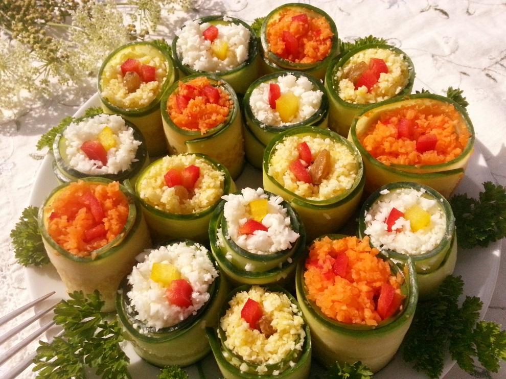 Raw vegan Veggie Rolls