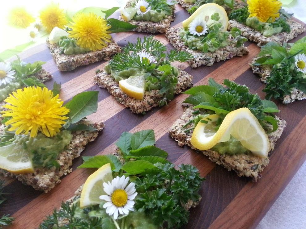 Rohkost an Ostern – Belegte Kräcker
