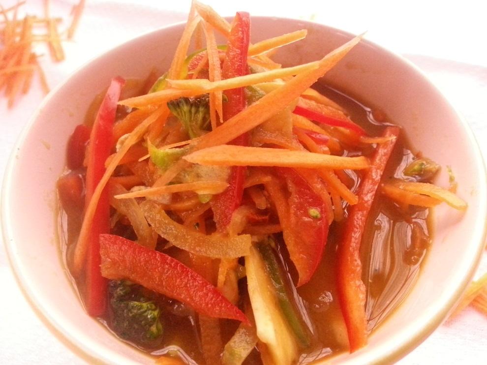 Miso-Suppe mit Gemüse