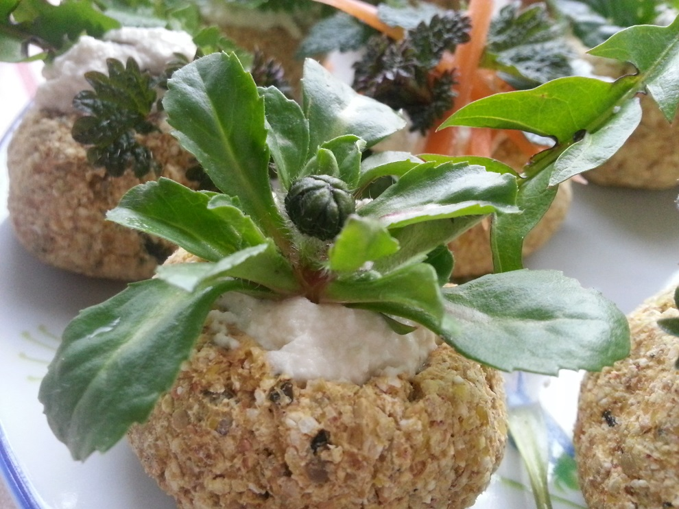 Roh-vegane Rohkost-Brot-Körbchen - laktosefrei glutenfrei