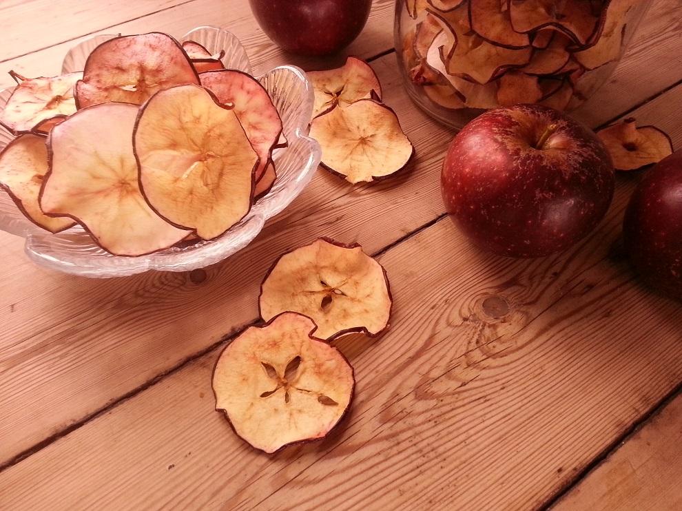 Apfelchips in Rohkostqualität