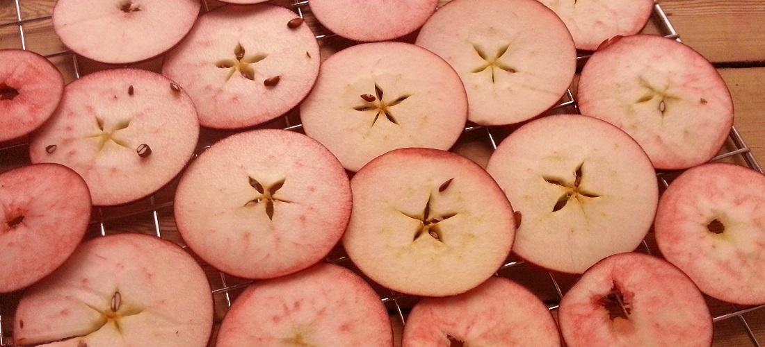 Rohköstliche Apfelchips