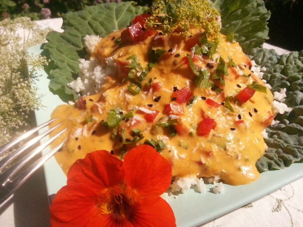 Blumenkohlreis mit asiatischer Sauce