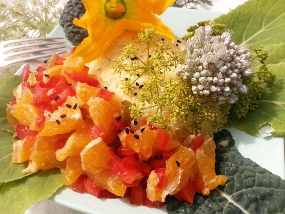 rohköstlicher Blumenkohlreis Soße
