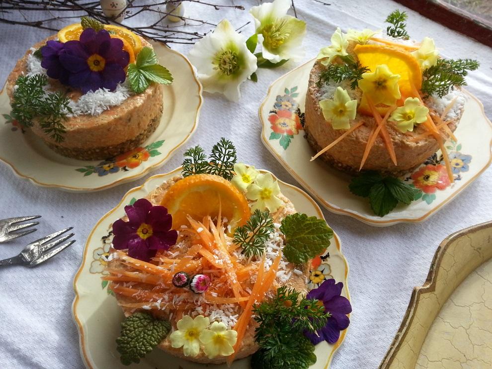 Rohköstliche Ostern mit Rüblitorte