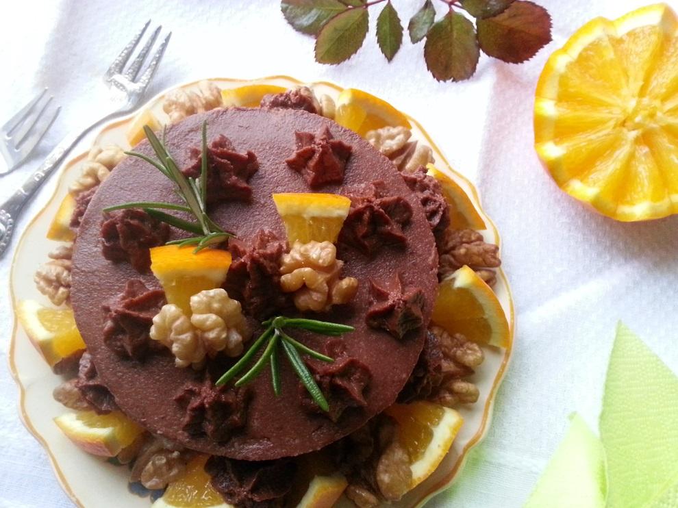 Rohe Schoko-Orangen-Torte