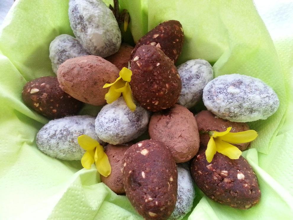 Rohköstliche Schoko-Ostereier - Geschenkidee zu Ostern