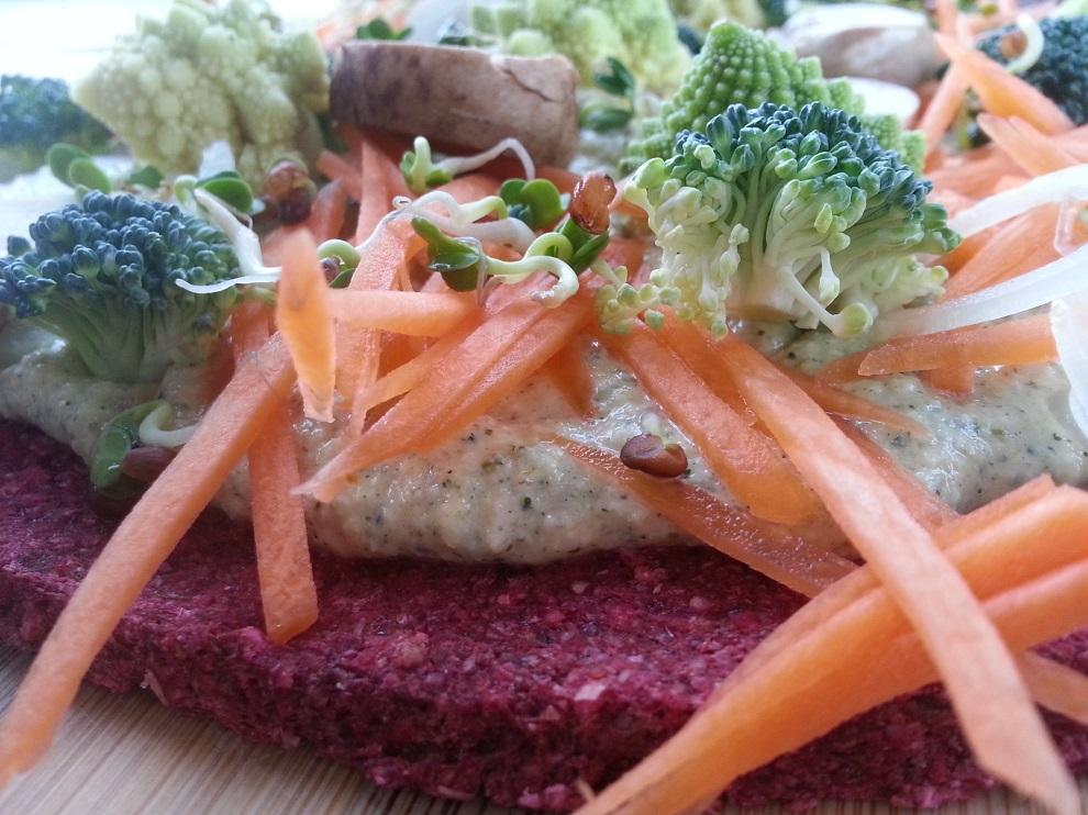 Rohkost-Fladenbrote & roh-vegane Hanfcreme - Omega 3 Eiweiss